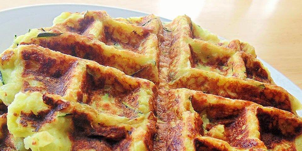 zucchini waffles green waffles recipe