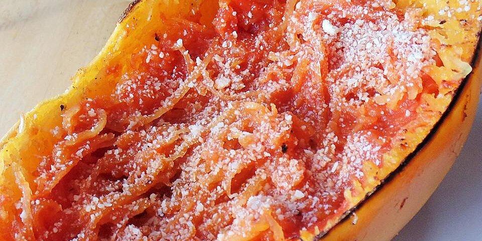 no fuss baked spaghetti squash recipe