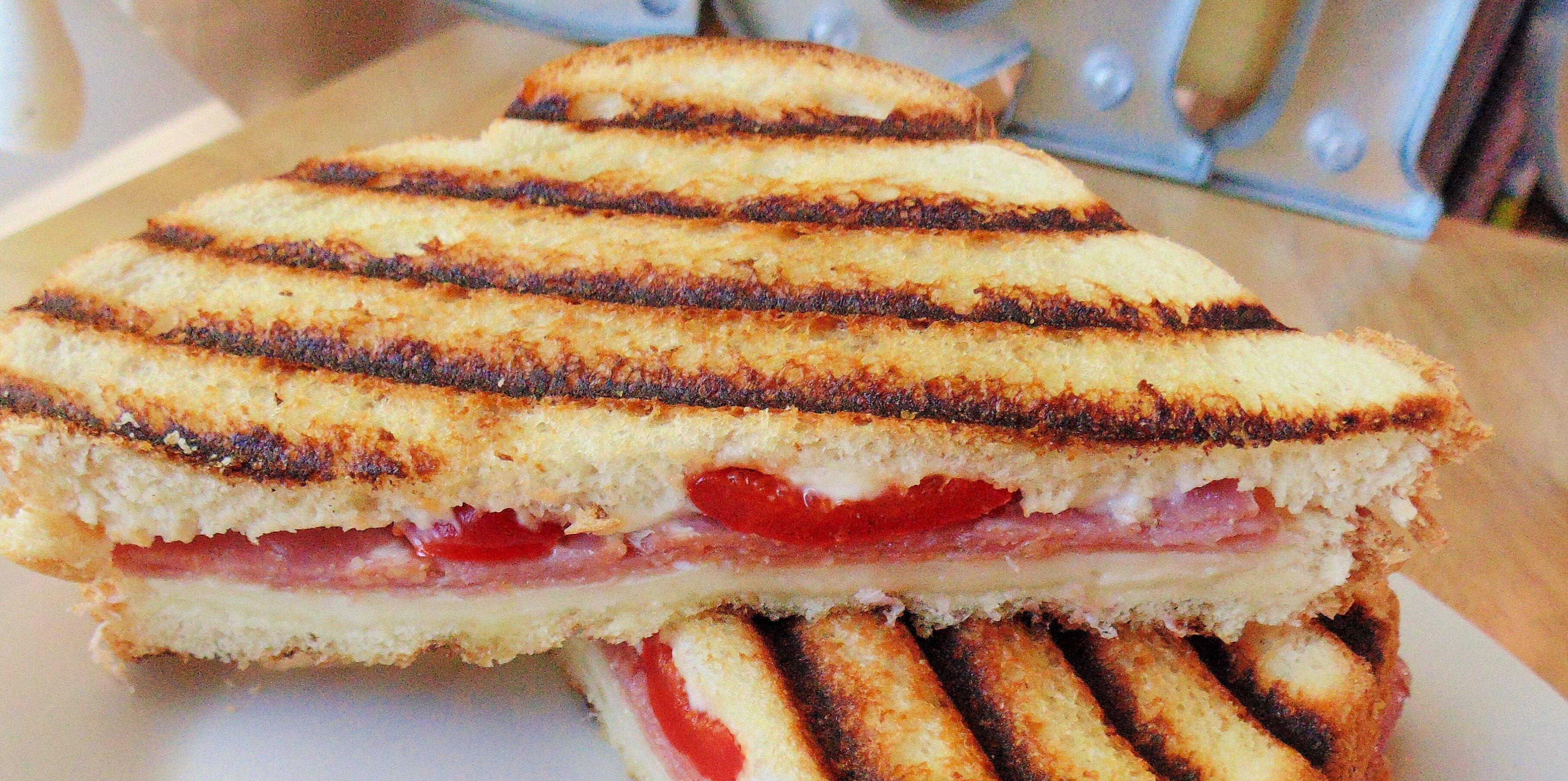 grilled panini sandwich without a panini maker recipe