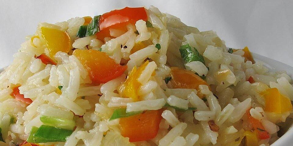 sweet bell pepper rice recipe