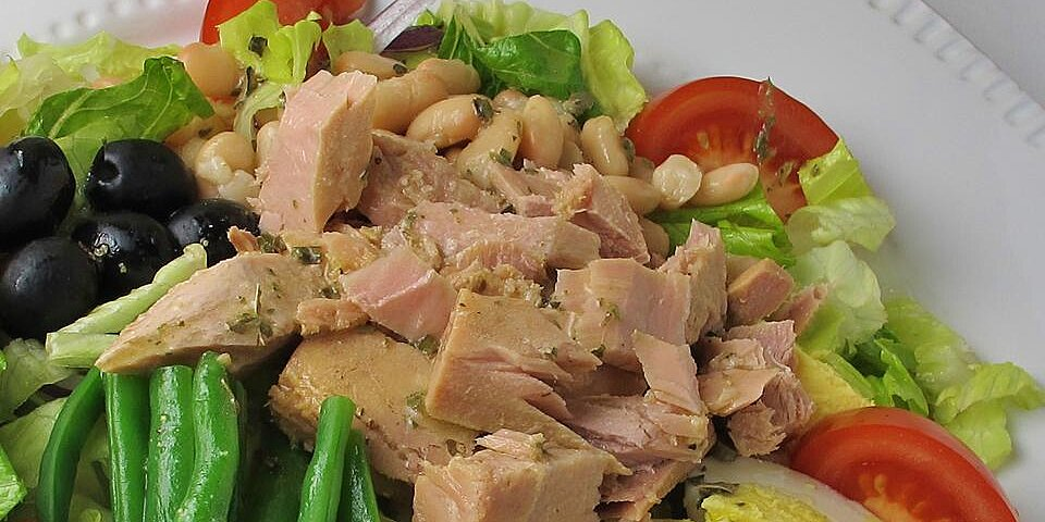back to nicoise style tuna salad with white beans olives recipe
