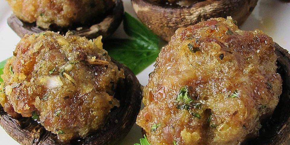easy sausage stuffed mushrooms recipe