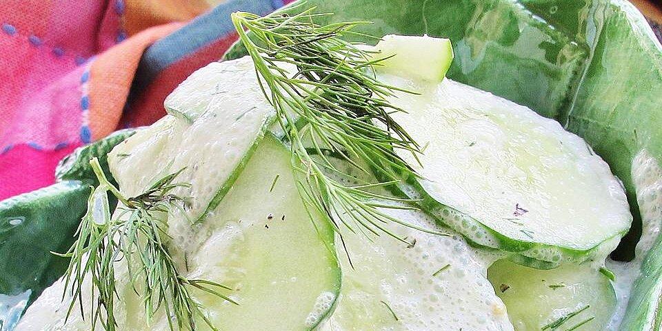 mizeria polish cucumber salad recipe