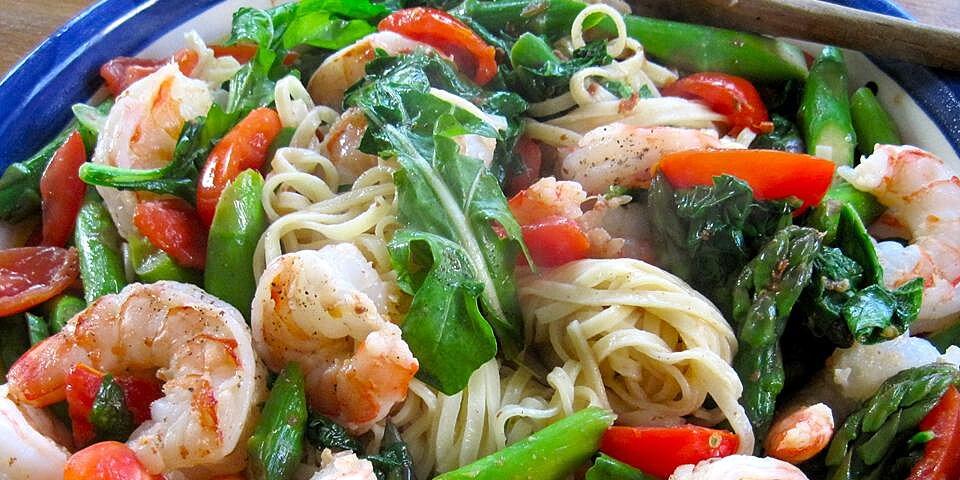 creamy shrimp pasta primavera recipe