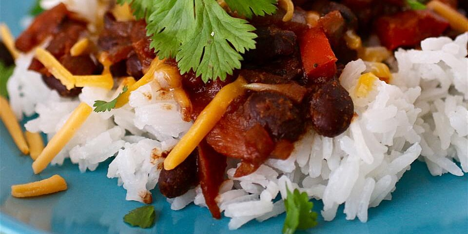 texi fied black beans and brown rice recipe