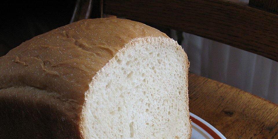 white bread for the bread machine recipe