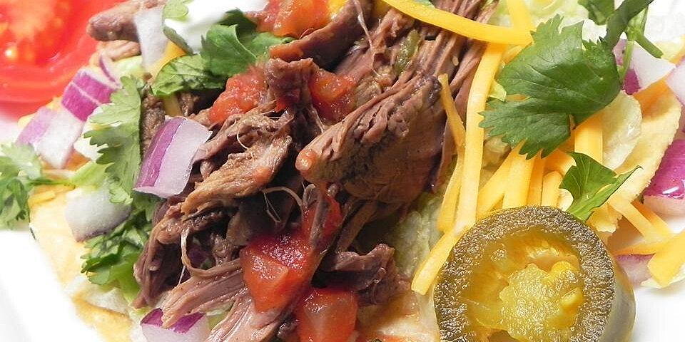 slow cooker shredded venison for tacos recipe