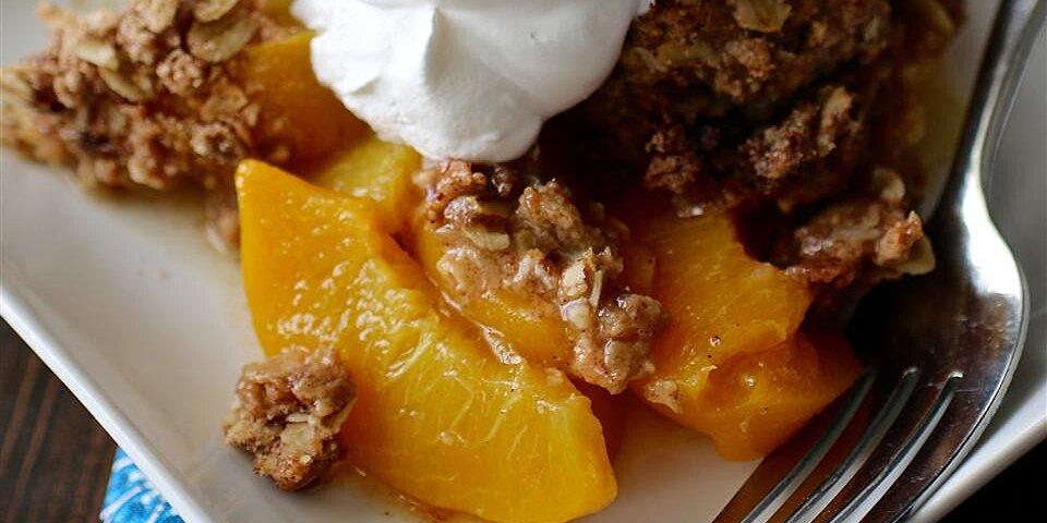 moms peach crisp recipe