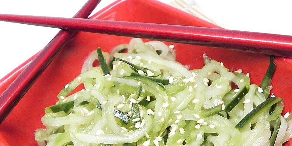 quick and easy asian sesame cucumber salad recipe
