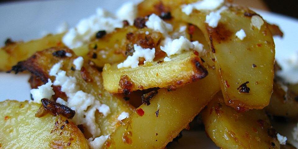 herbed greek roasted potatoes with feta cheese recipe
