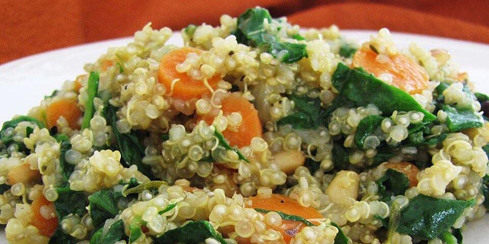 carrot tomato and spinach quinoa pilaf recipe
