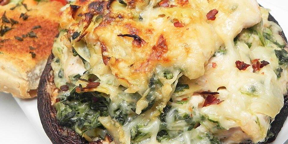 back to chicken artichoke and spinach stuffed portobellos recipe