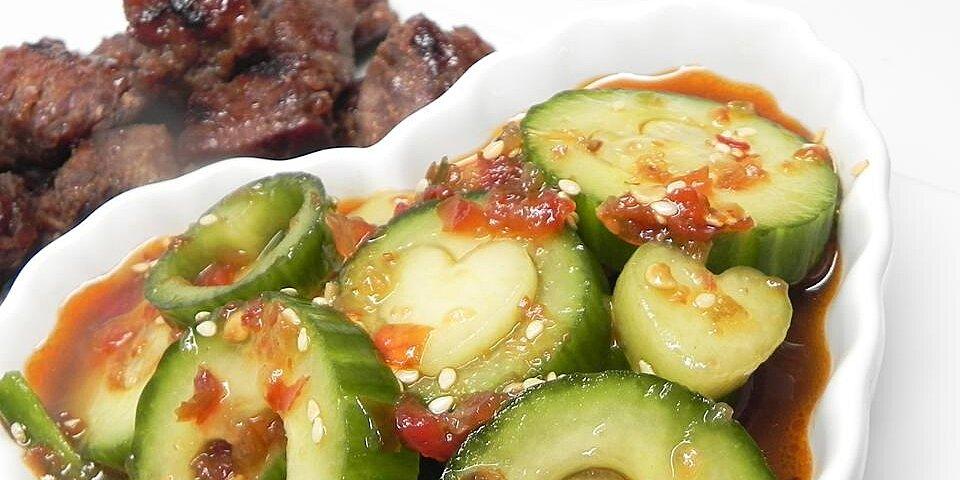 moms spicy cucumber kimchee recipe