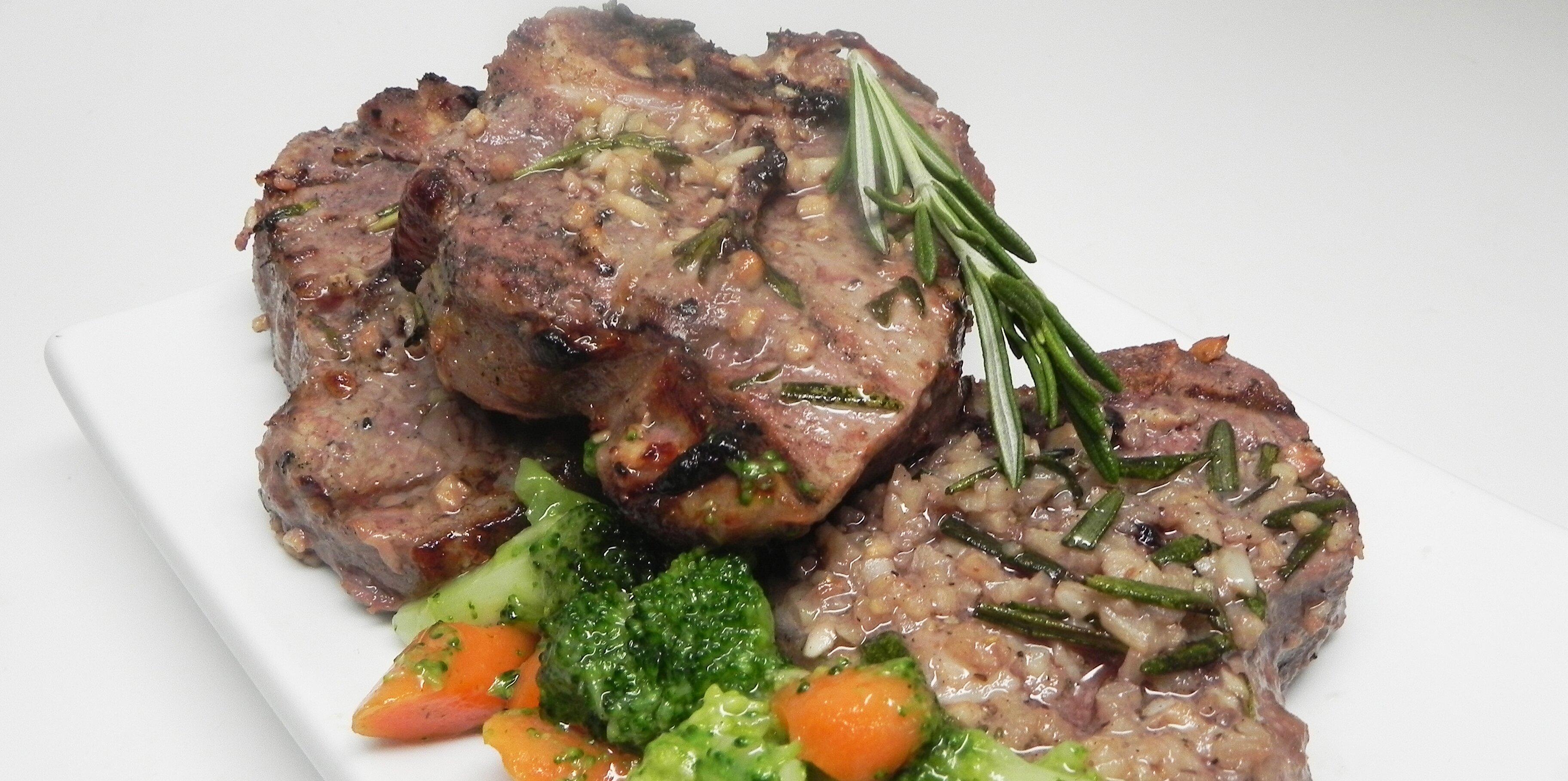 grilled leg of lamb steaks recipe