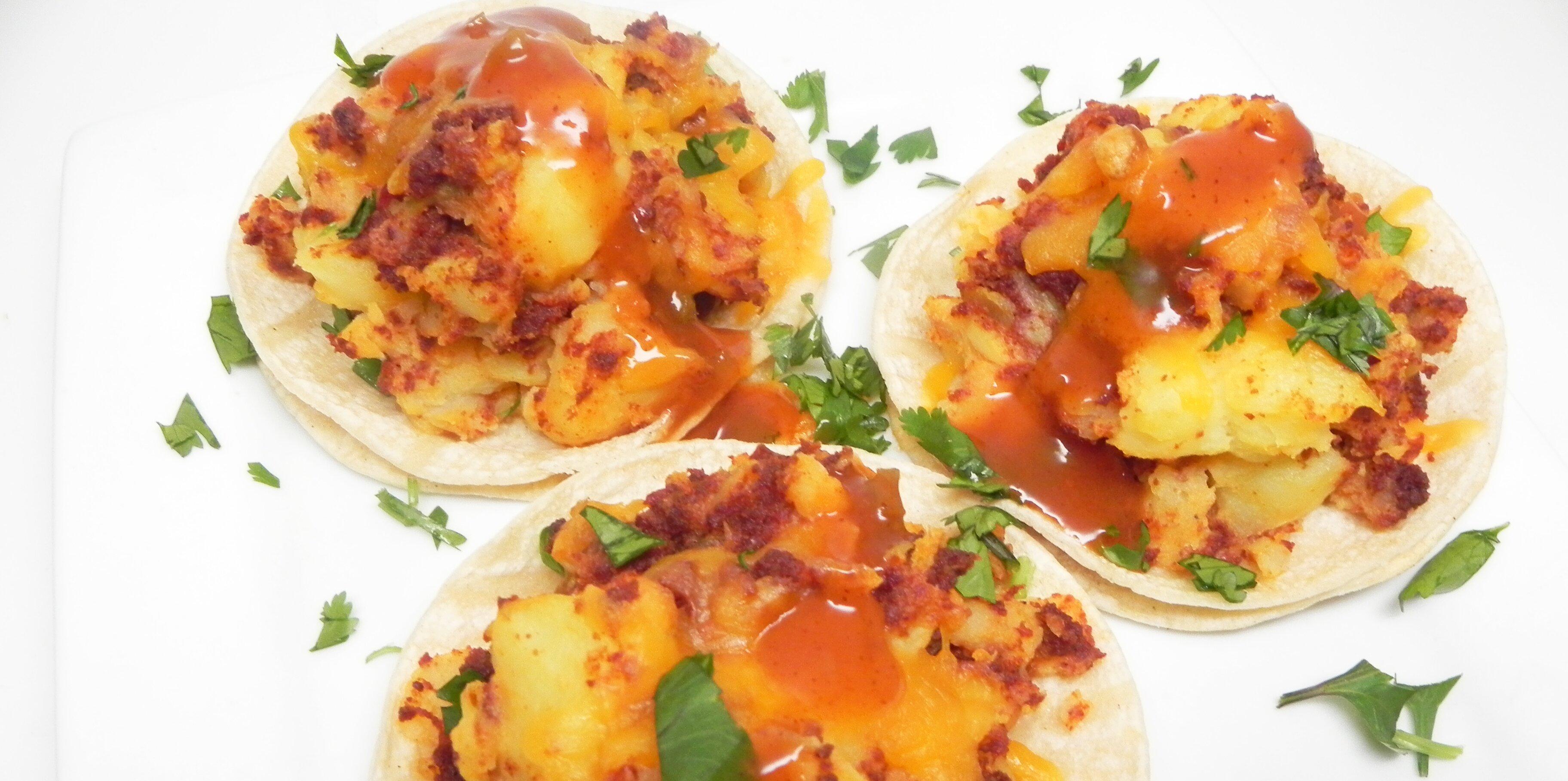 vegan potato soy chorizo tacos recipe