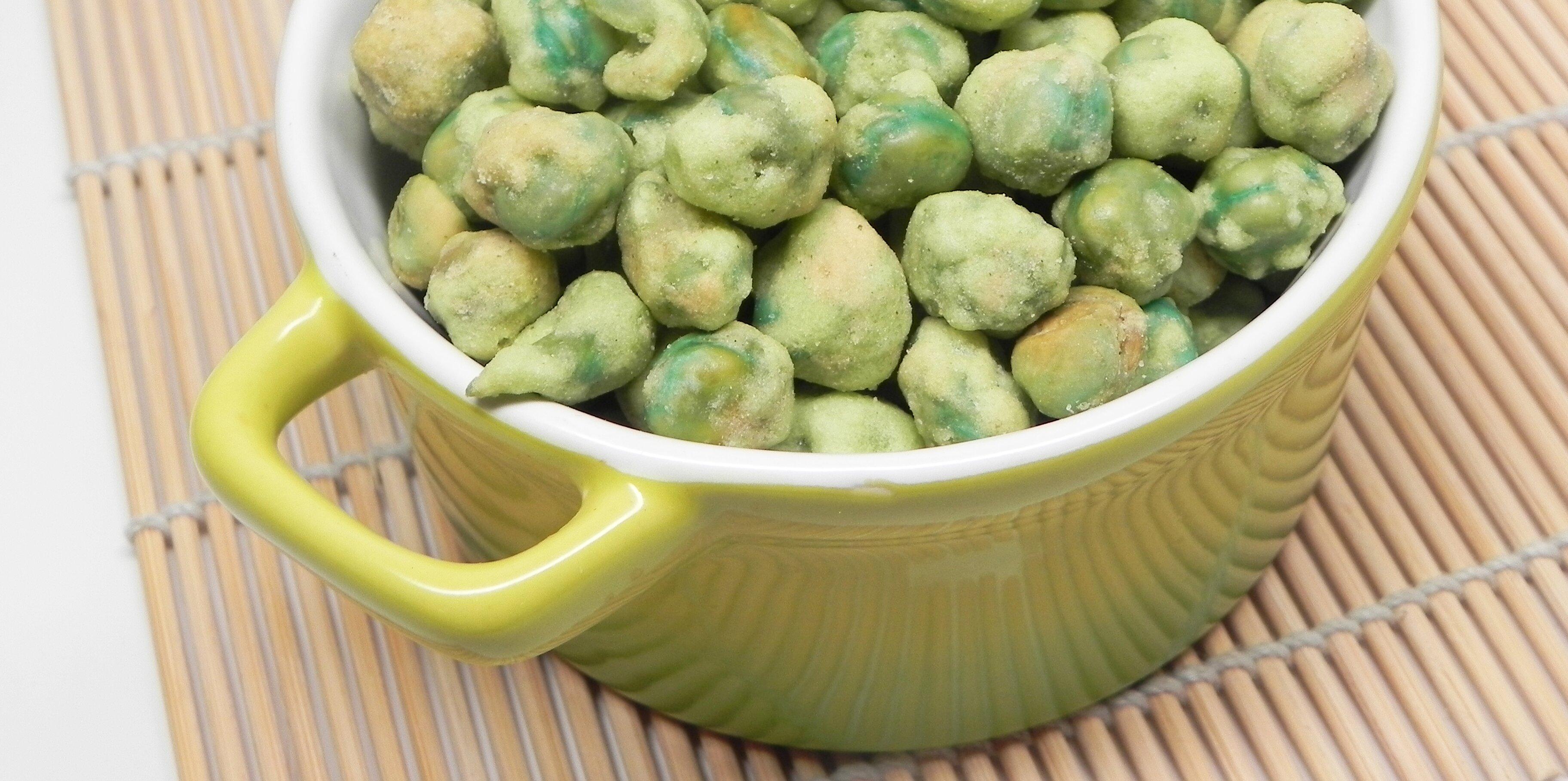 wasabi green peas recipe