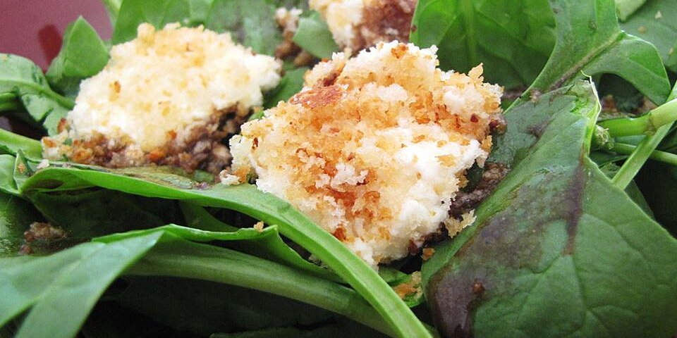spinach salad with baked goat cheese recipe
