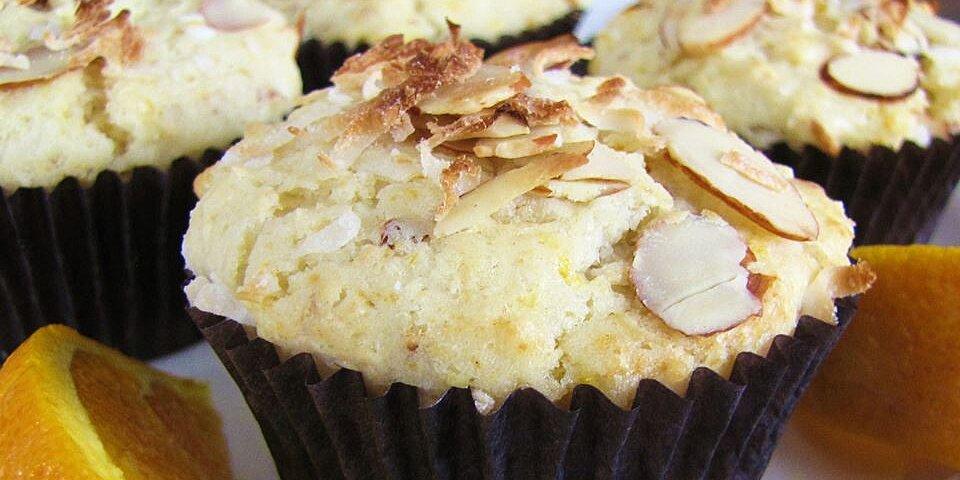 golden coconut almond muffins recipe