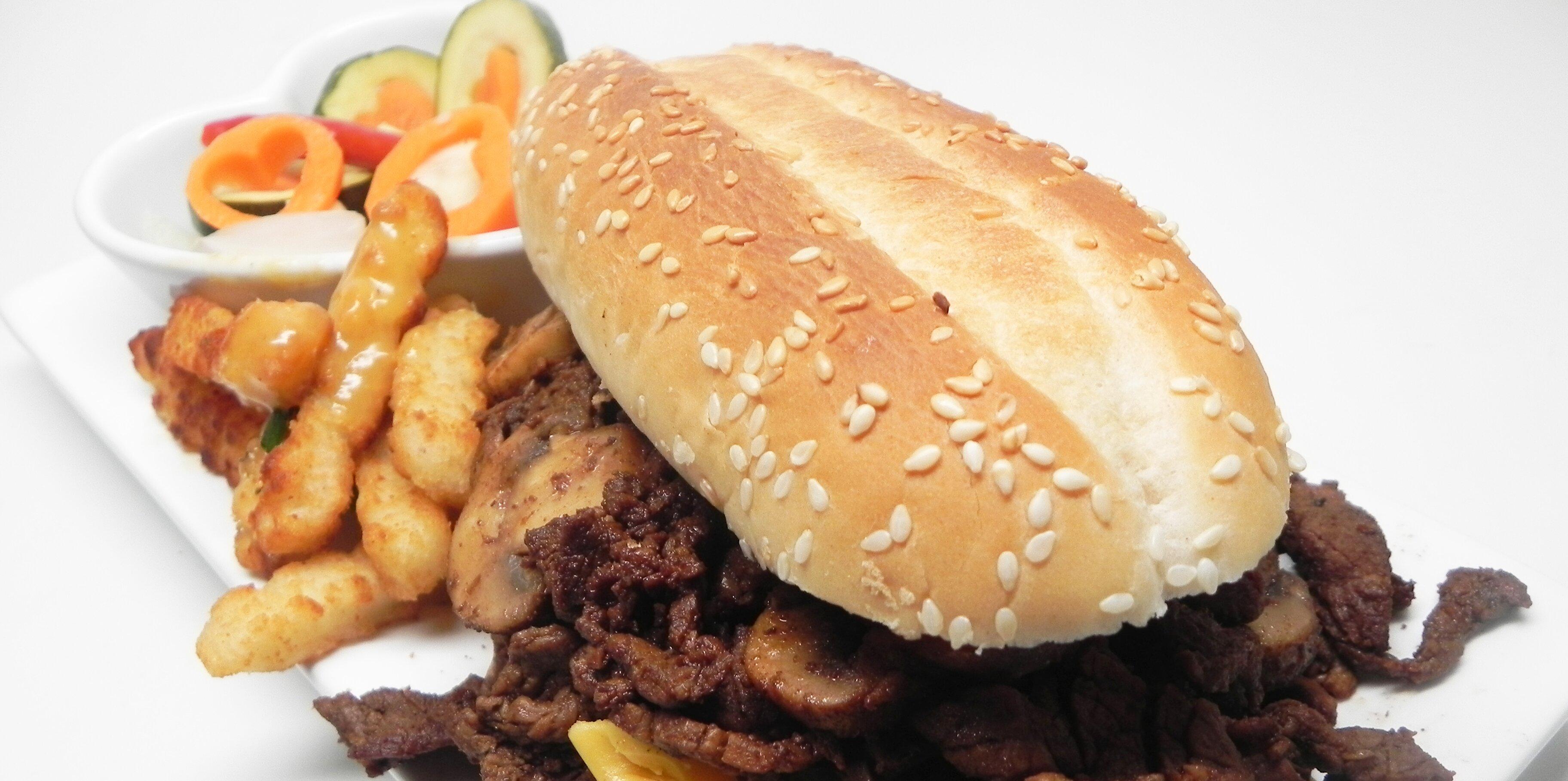coreys steak cheese and mushroom subs recipe