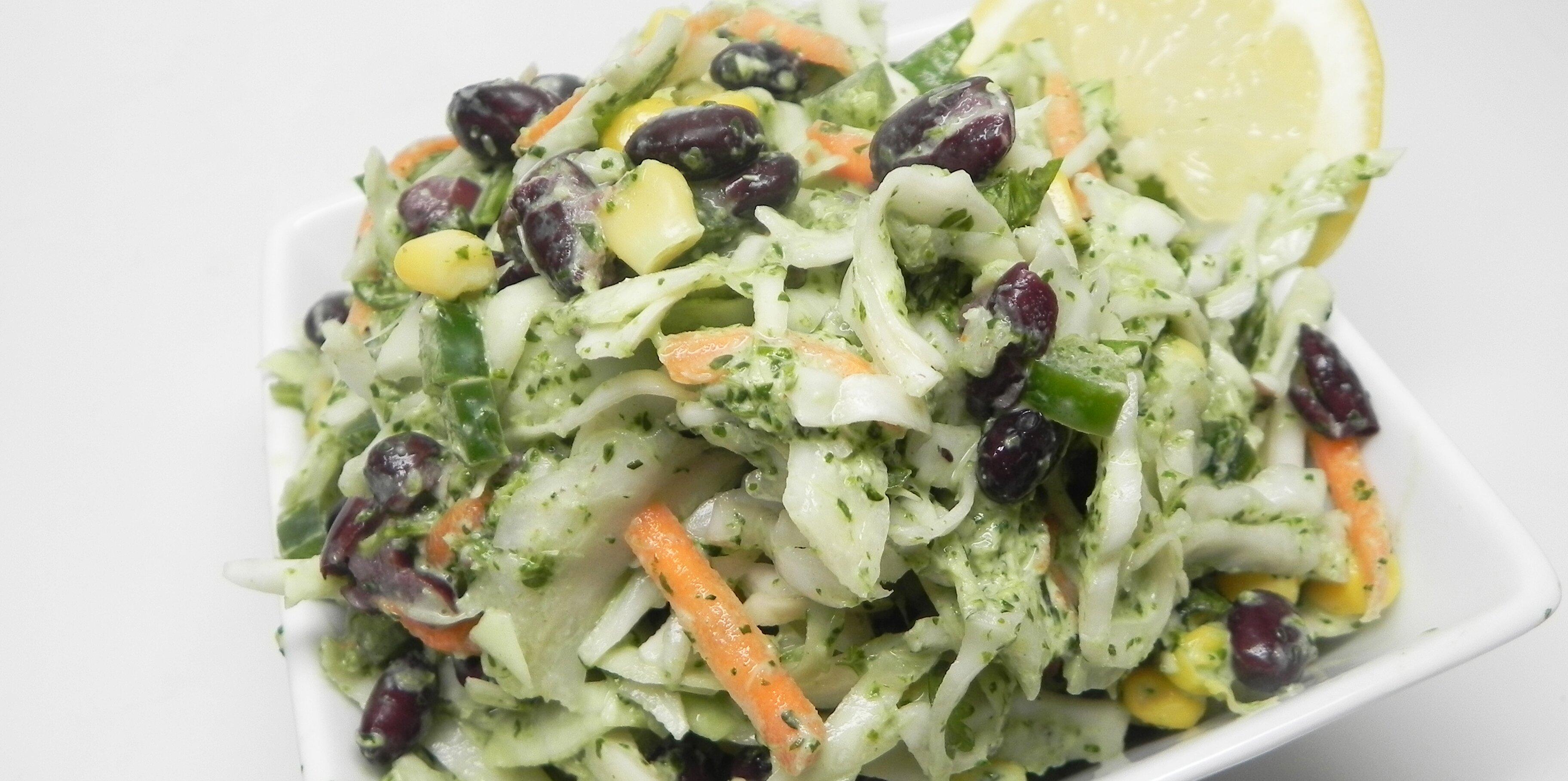 vegetarian taco slaw with creamy cilantro lime dressing recipe