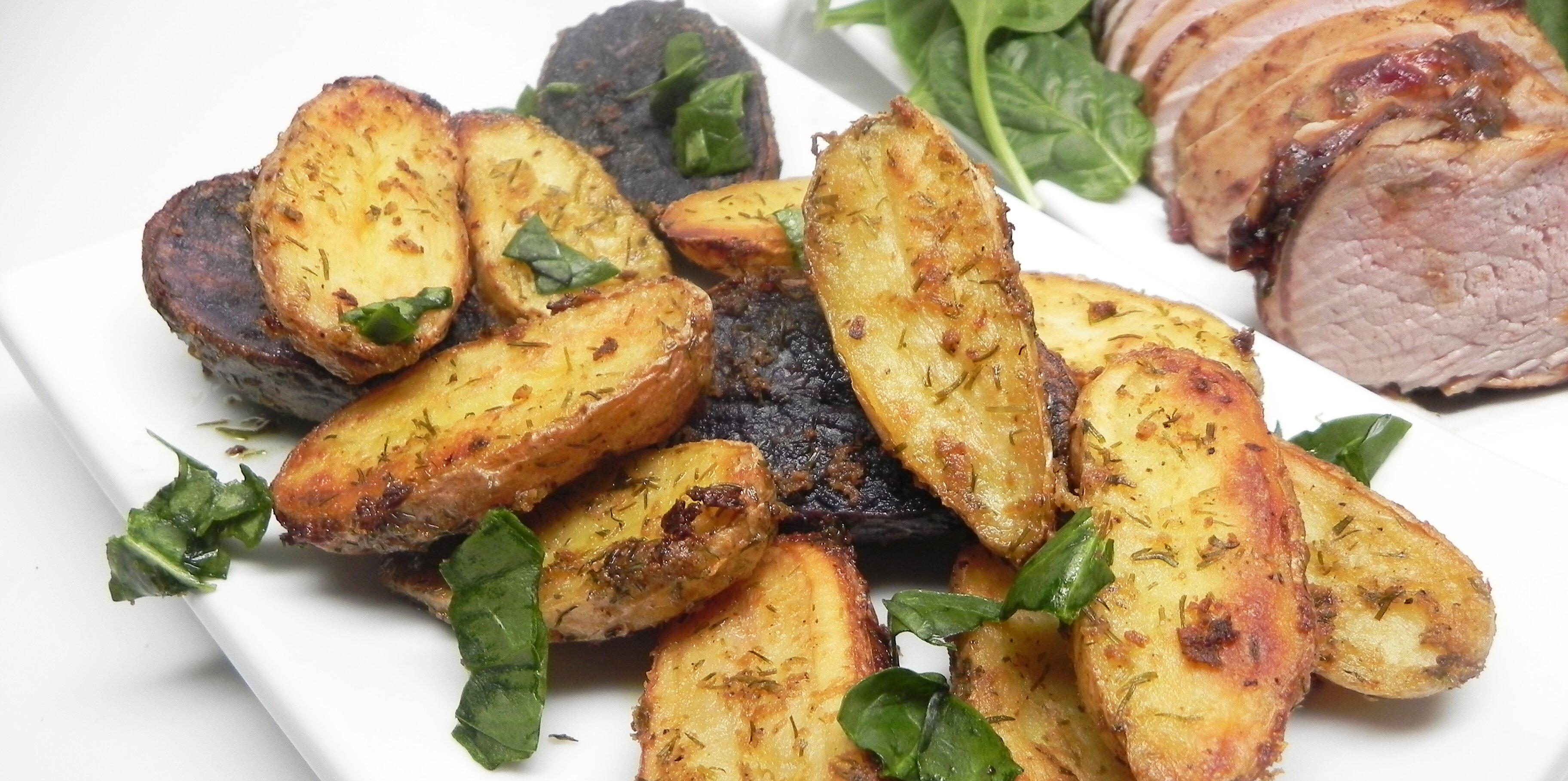 mustard dill roasted fingerling potatoes recipe