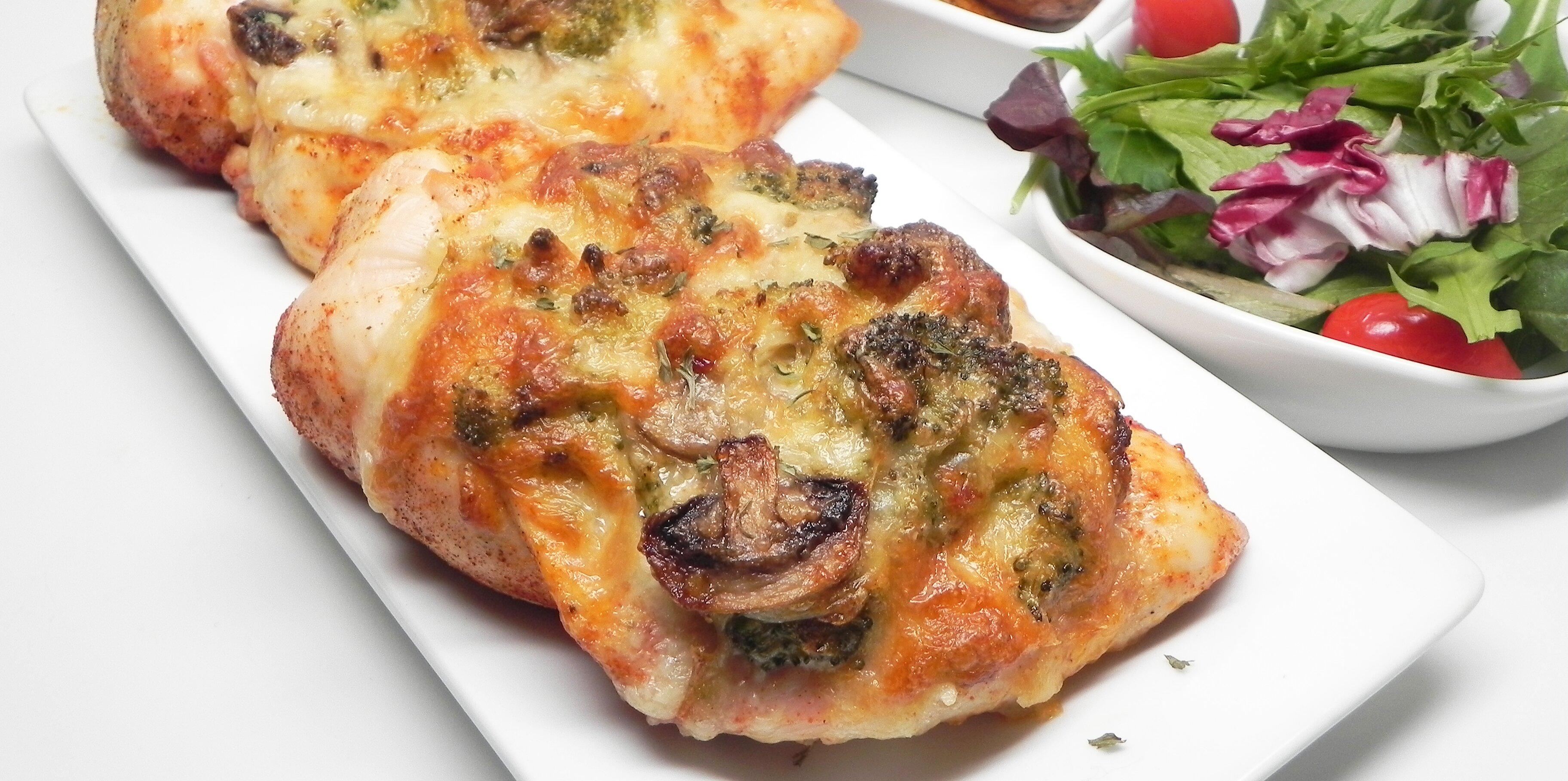 mushroom broccoli and cheese stuffed chicken recipe