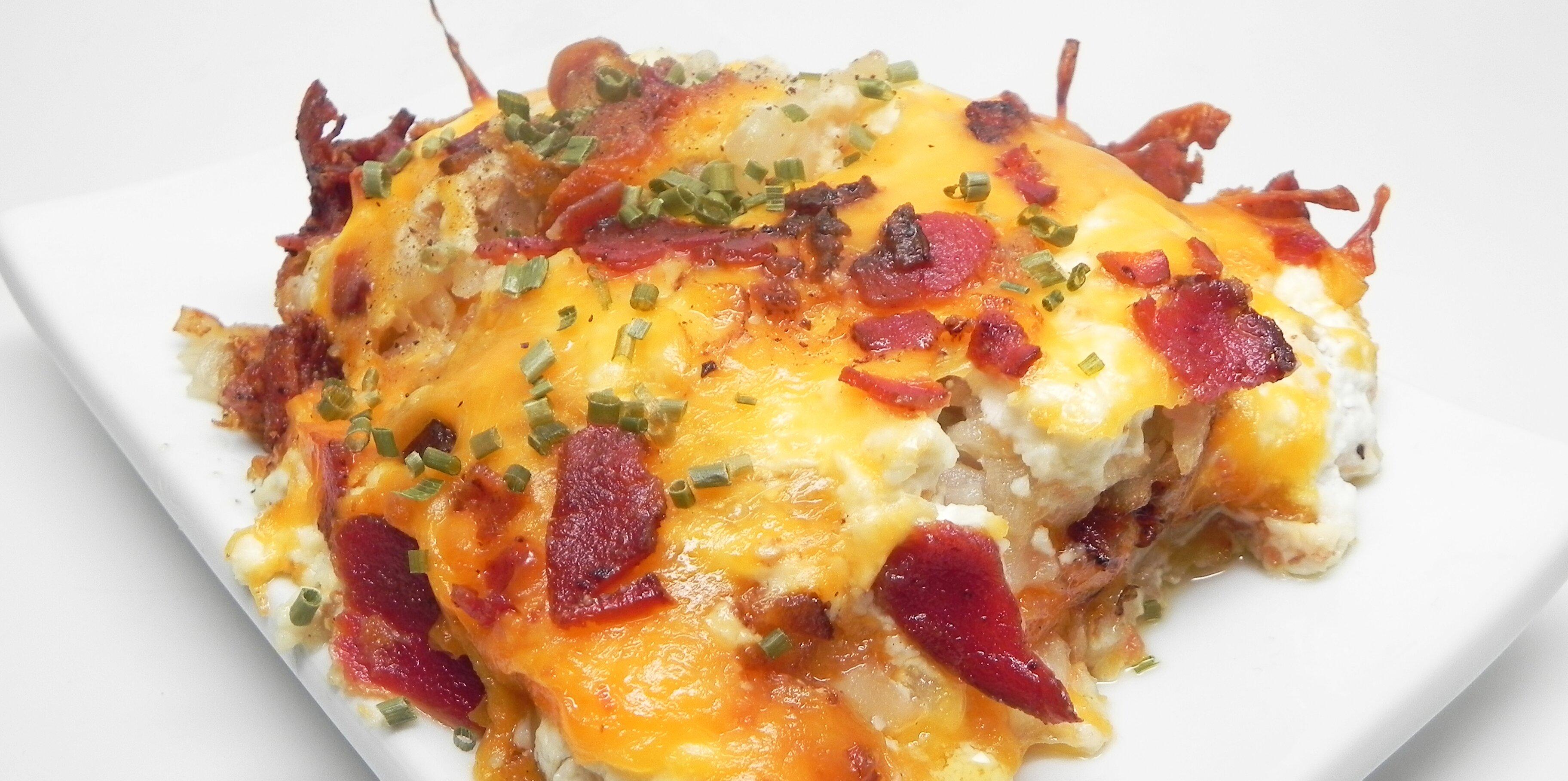 loaded hash brown potato casserole recipe