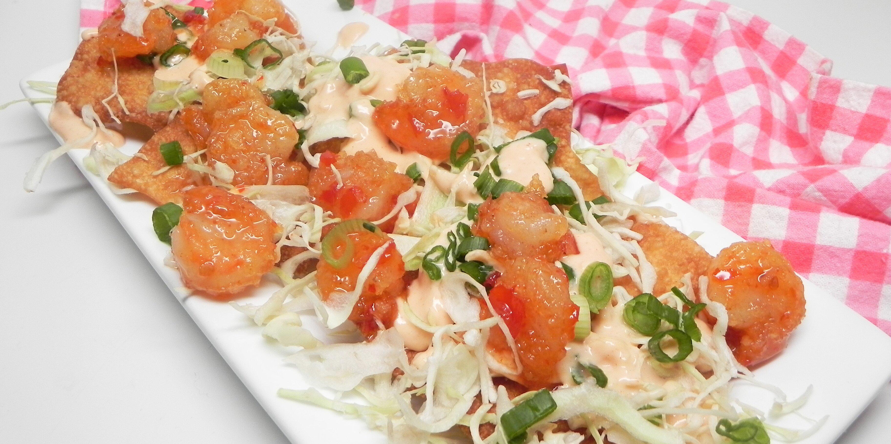 asian shrimp nachos recipe