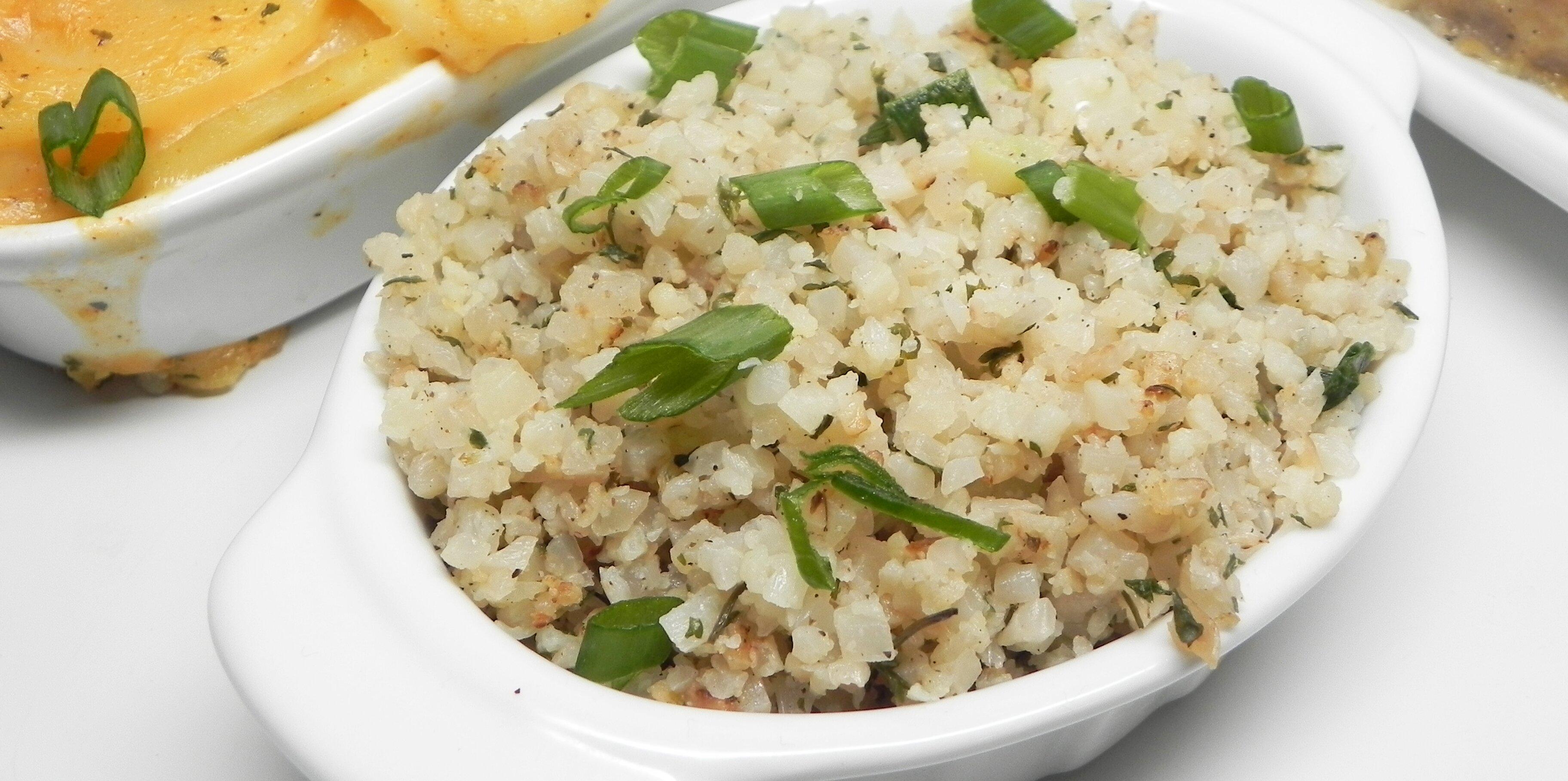 herbed cauliflower rice recipe