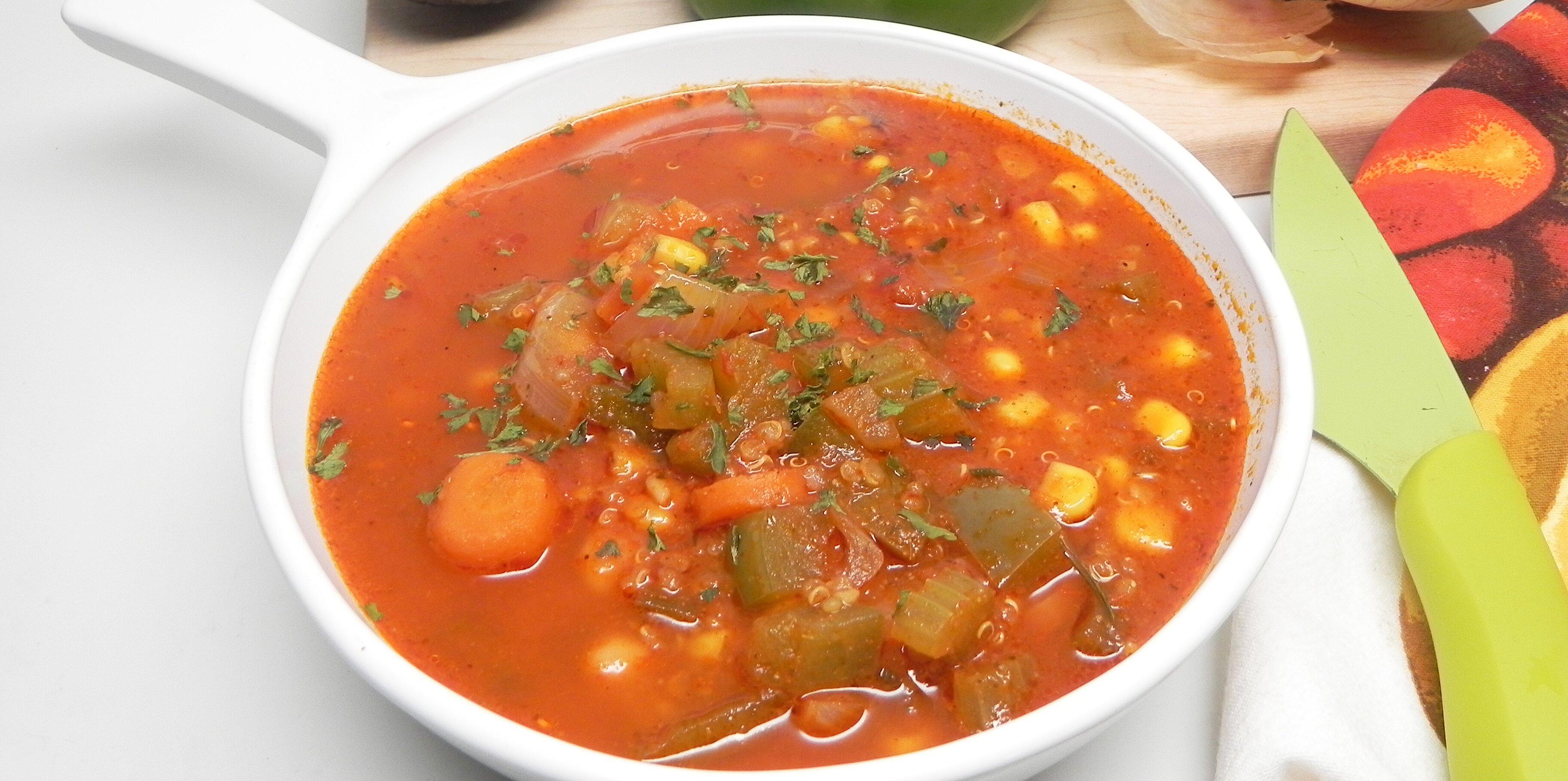 vegetable soup with quinoa recipe