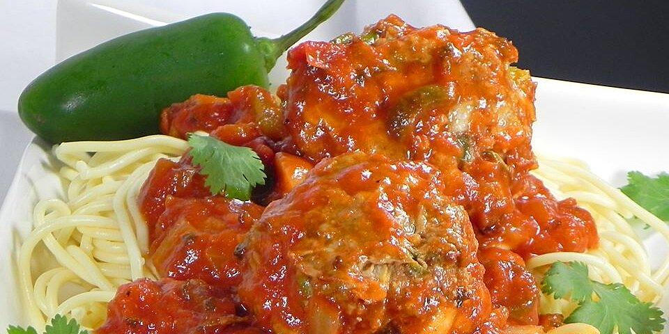 mexican style spaghetti and meatballs recipe