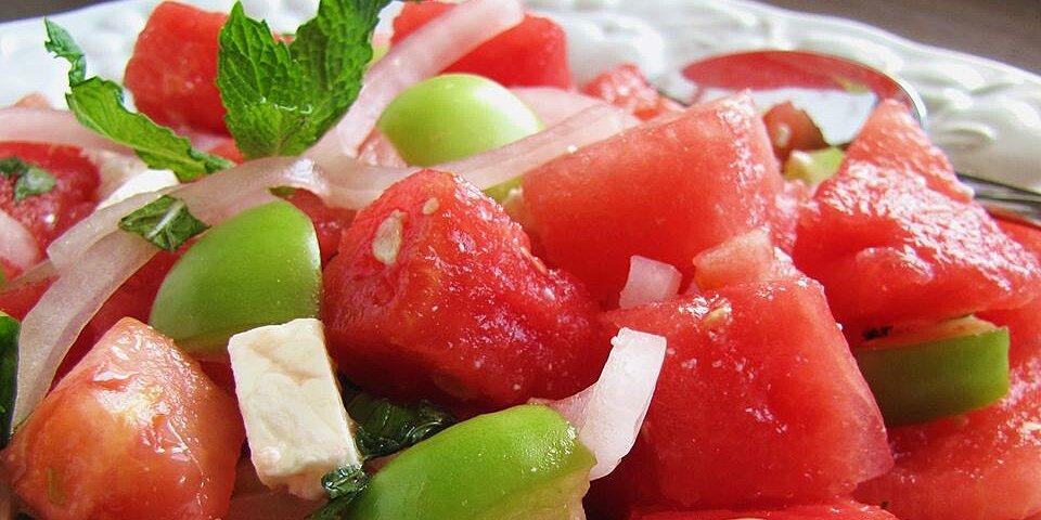 watermelon and tomato feta salad recipe