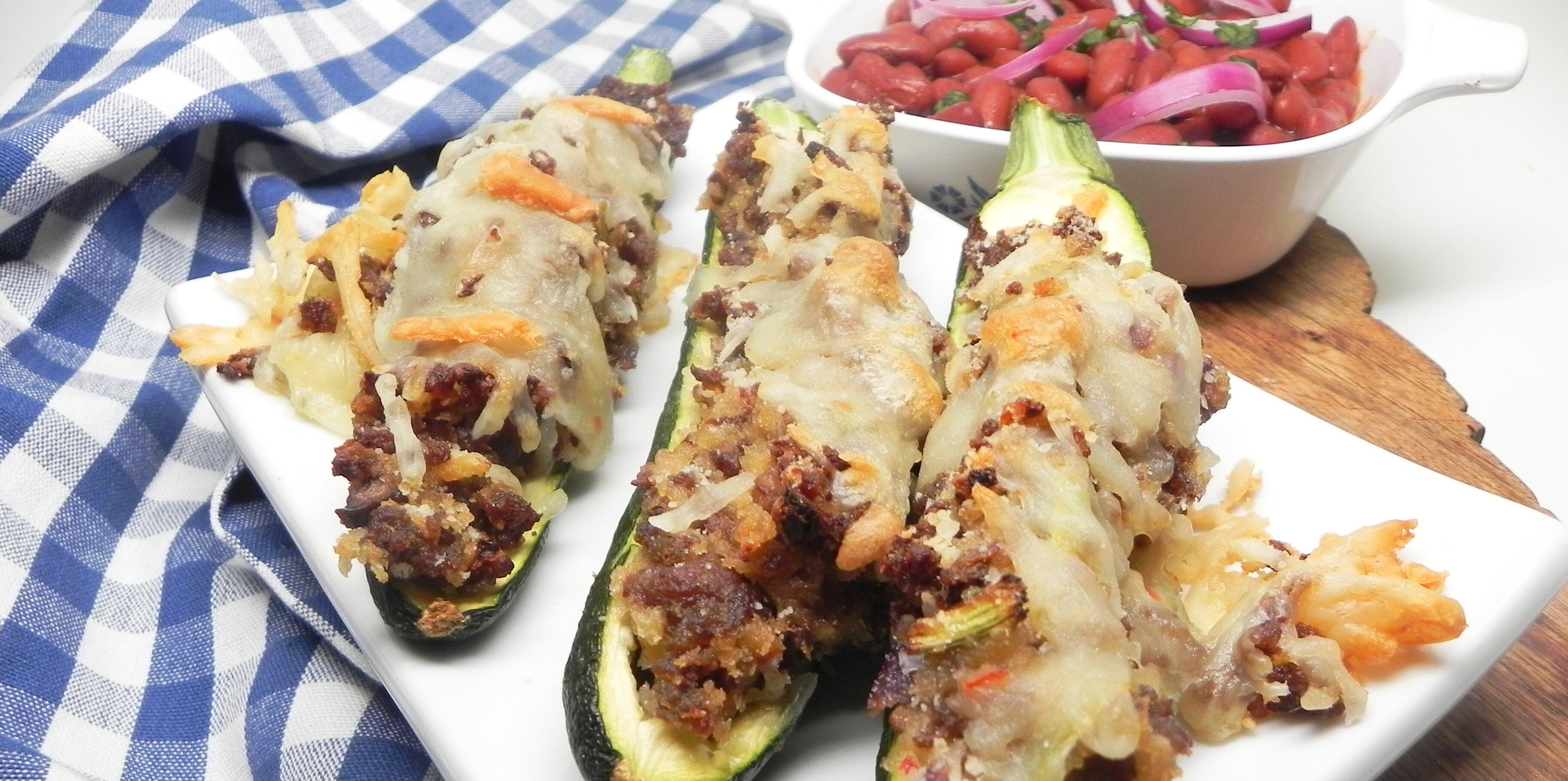 sausage stuffed zucchini boats recipe