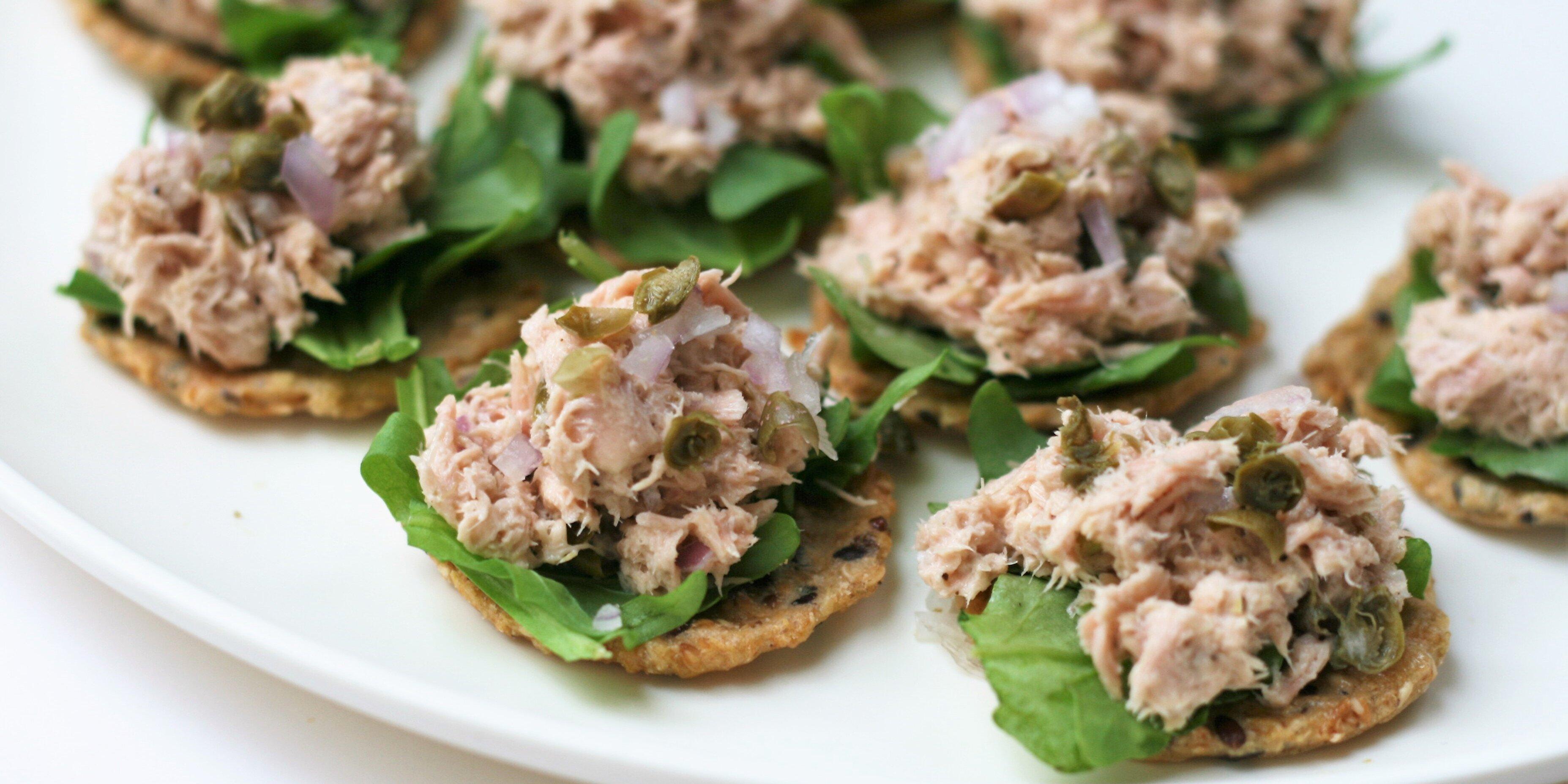 tuna and caper bites
