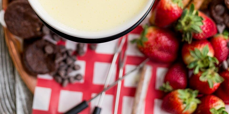 white chocolate fondue recipe