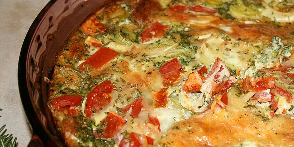 quiche with kale tomato and leek recipe