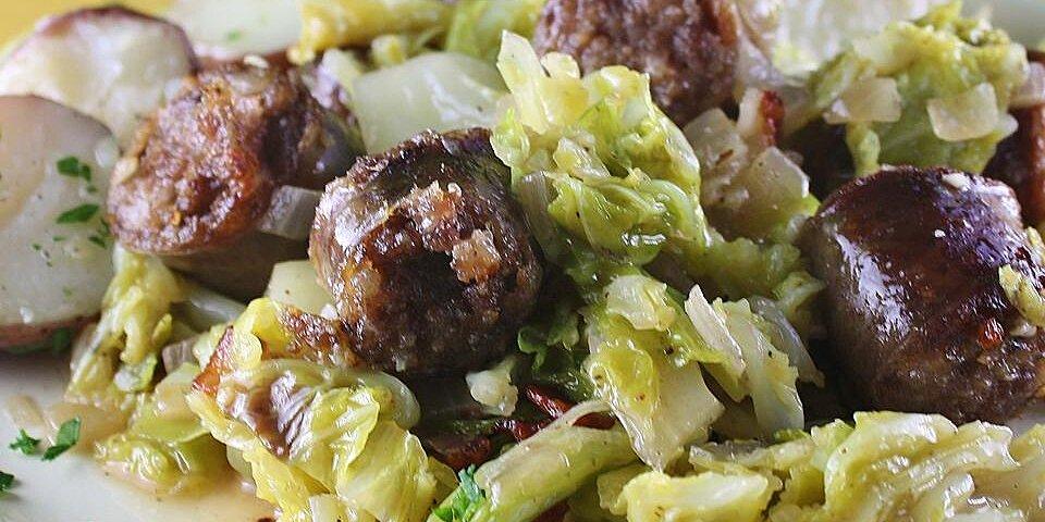 fried cabbage and kielbasa recipe