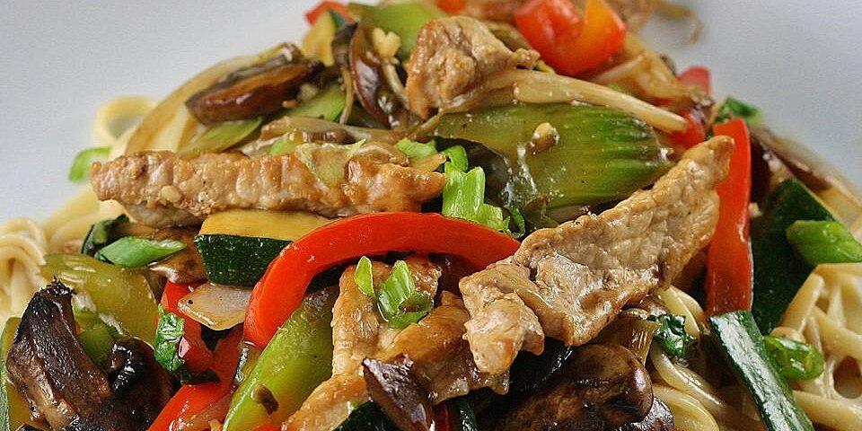 stir fried vegetables with chicken or pork recipe