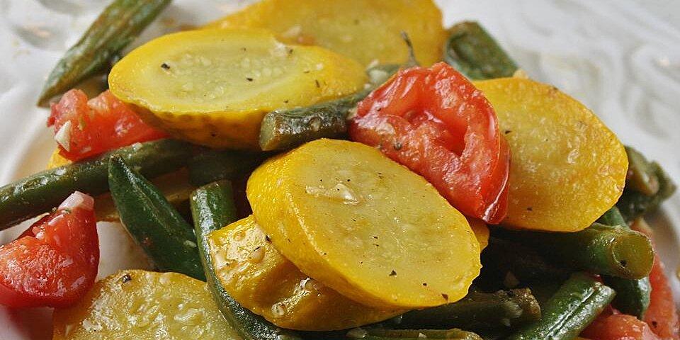 squash and green bean saute side dish recipe