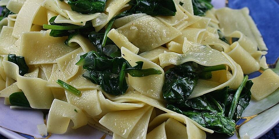 egg noodles with spinach recipe