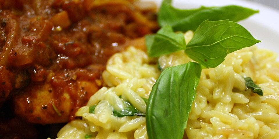 orzo with parmesan and basil recipe