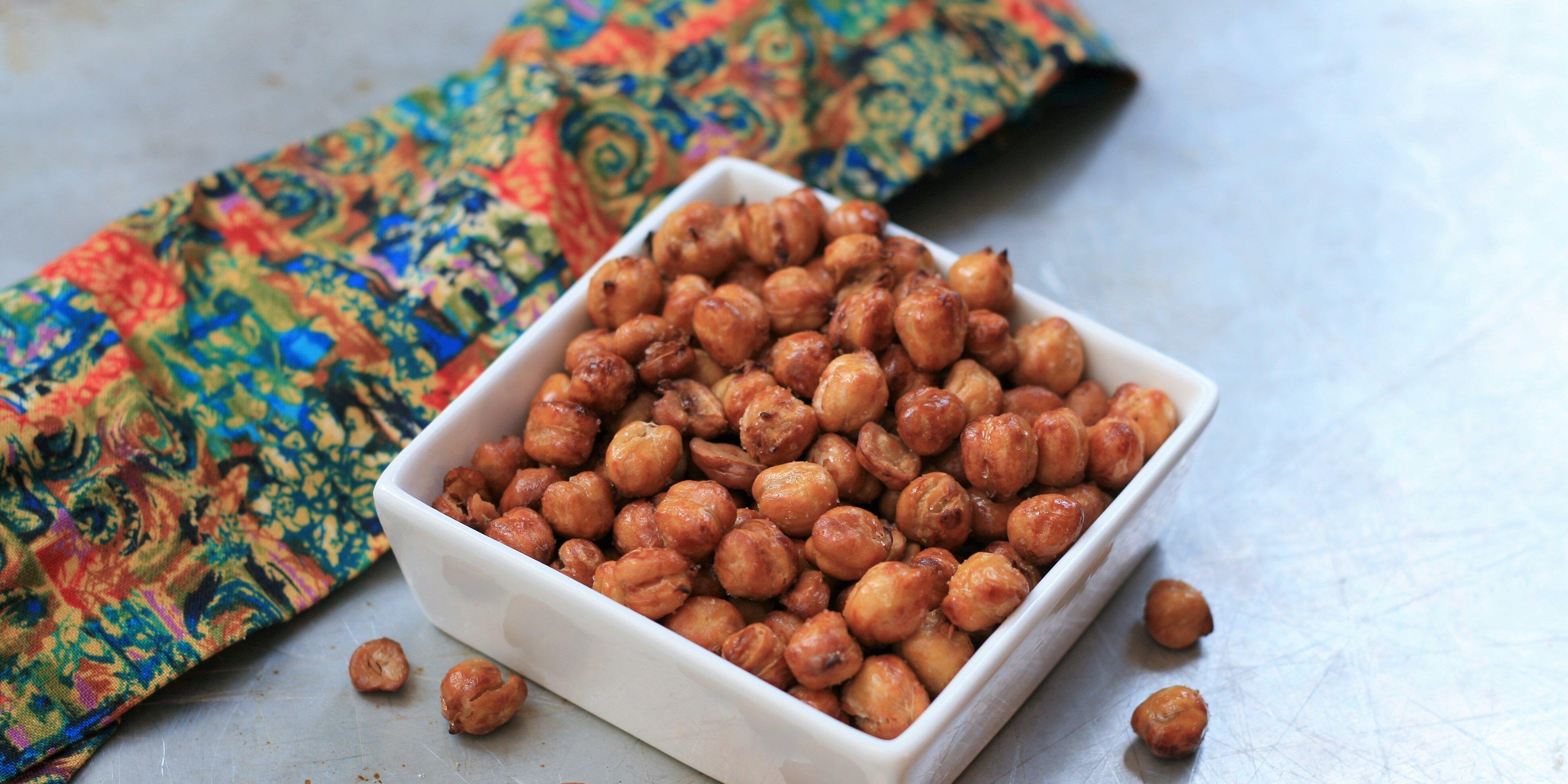 air fryer salt and vinegar chickpeas recipe