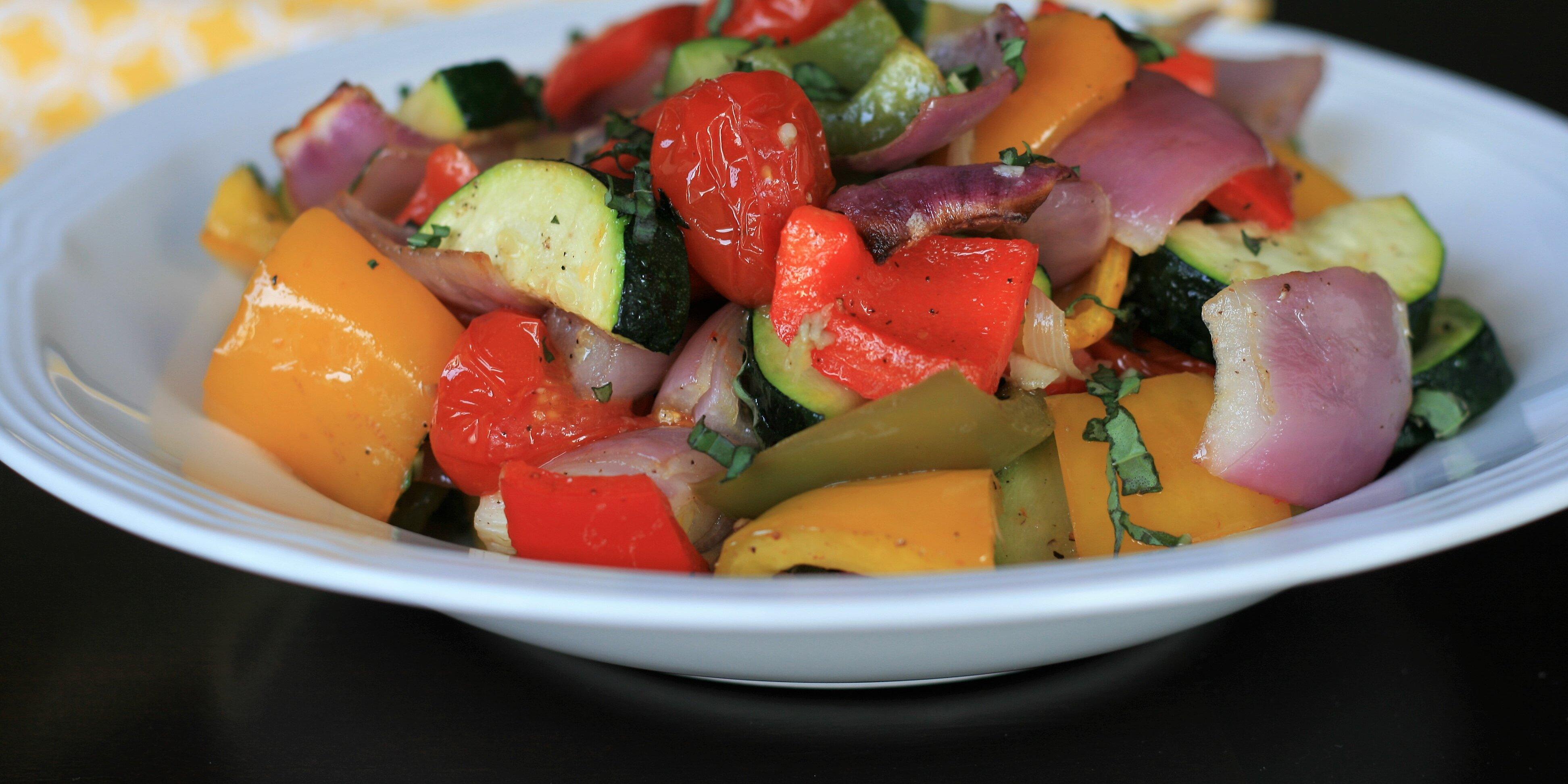 sheet pan roasted mediterranean vegetables recipe