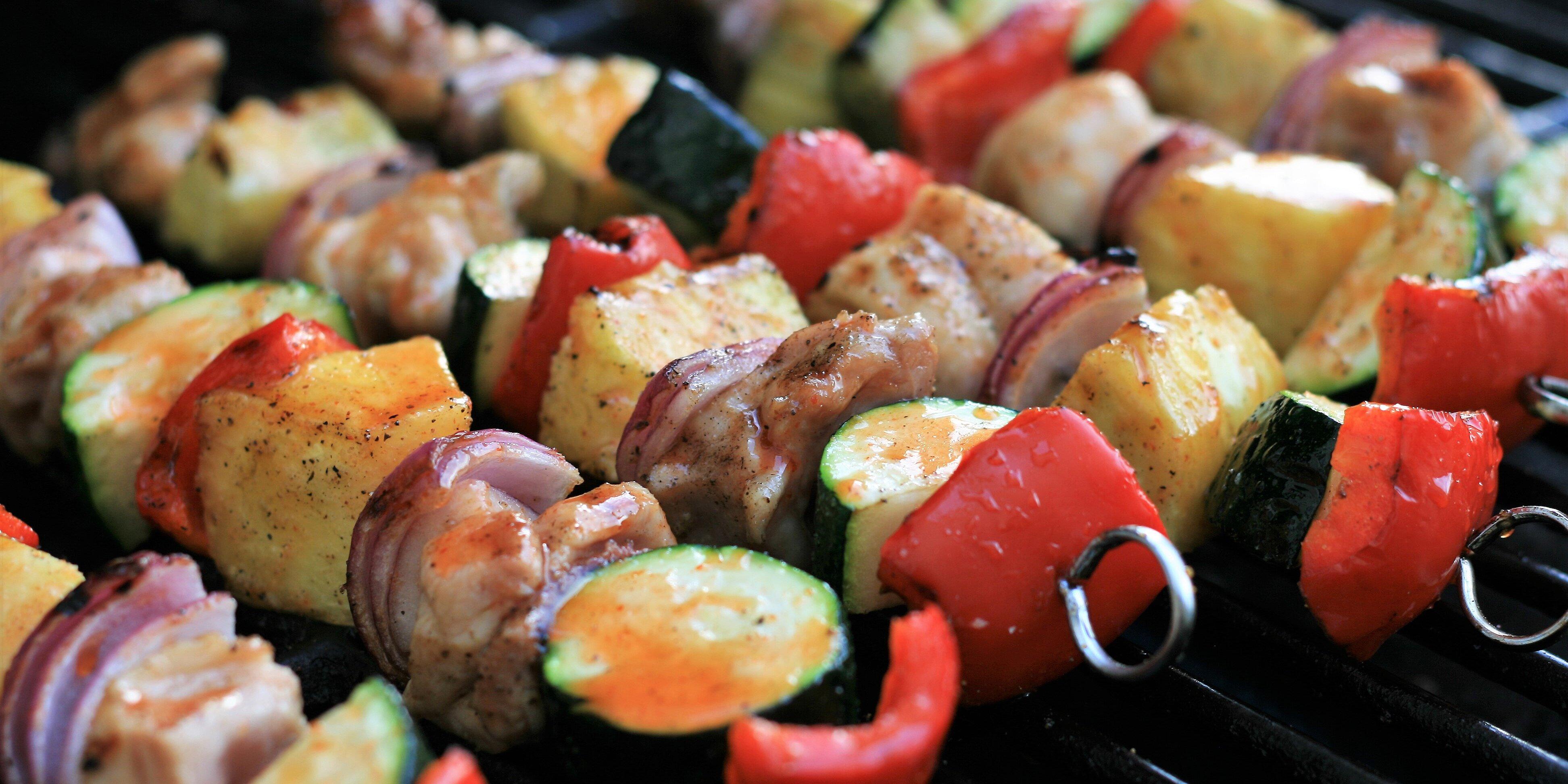 spicy honey lime chicken thigh kebabs recipe