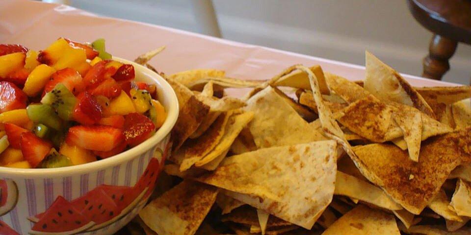 fruit salsa with cinnamon tortilla chips recipe