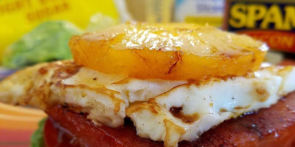the ultimate open faced breakfast spam wich sandwich recipe