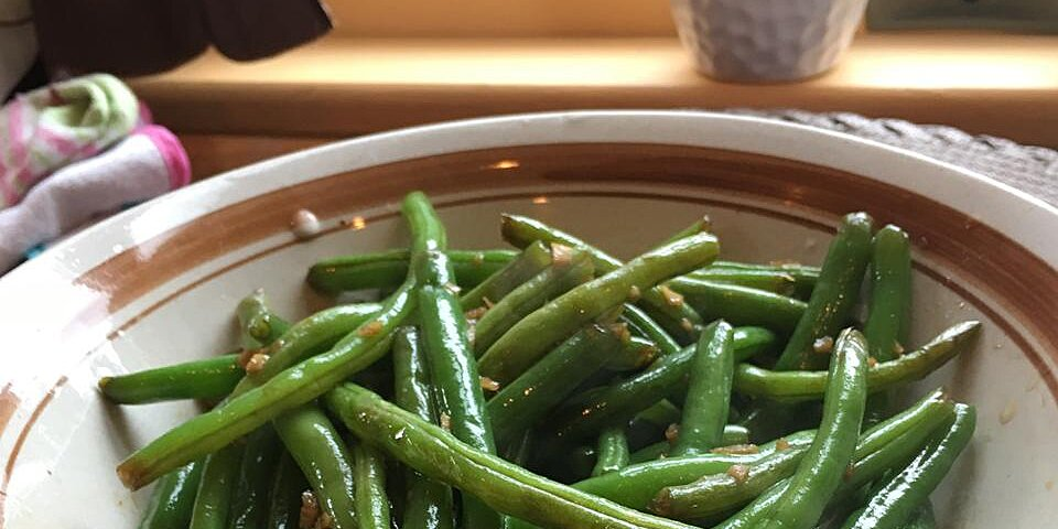 dads pan fried green beans recipe