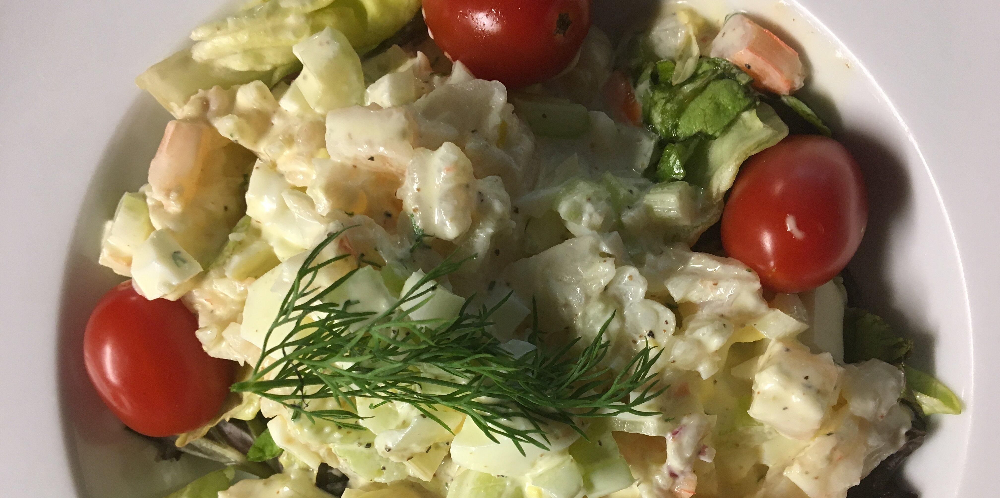 shrimp egg salad recipe