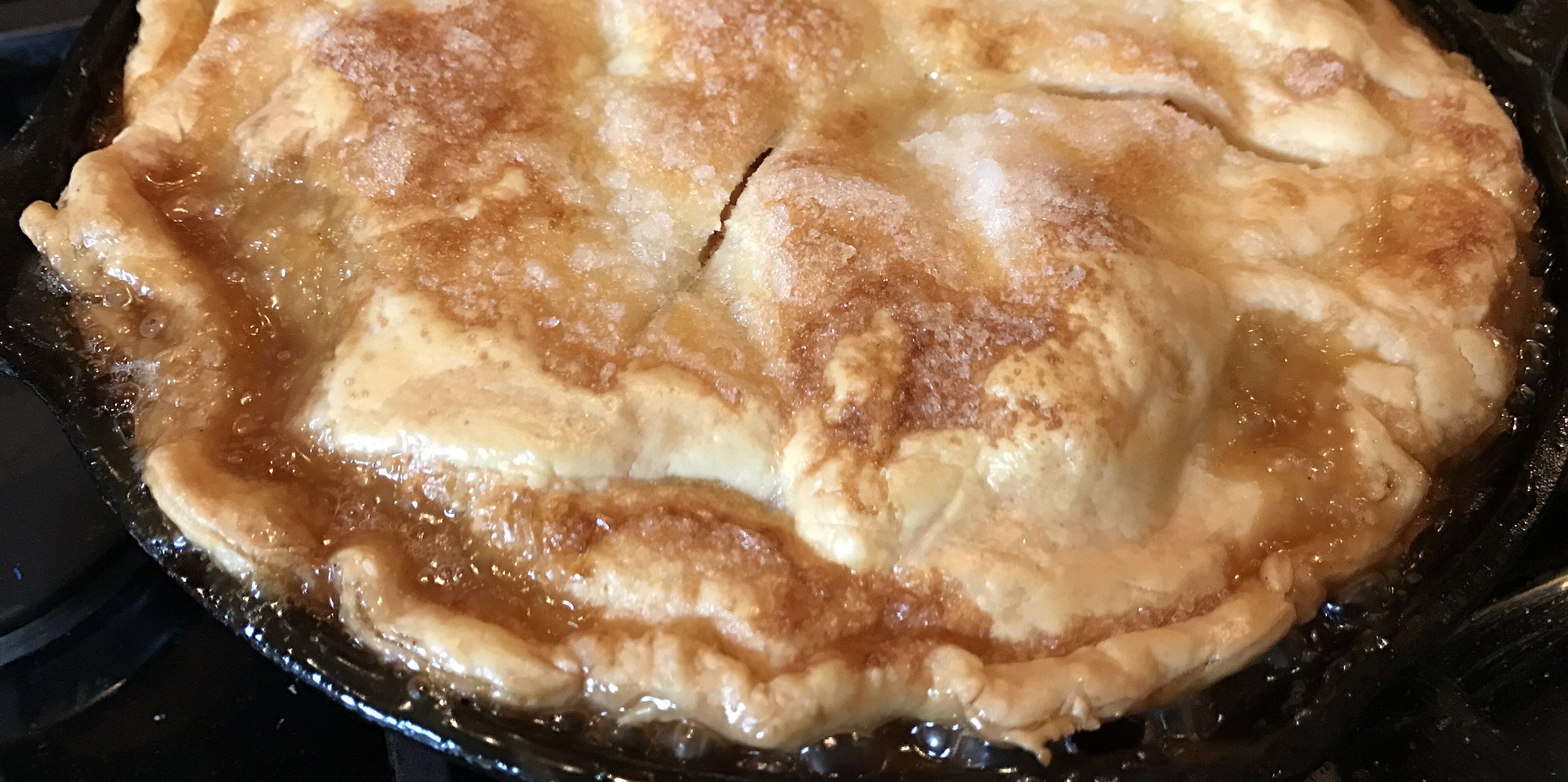 grandmas iron skillet apple pie recipe
