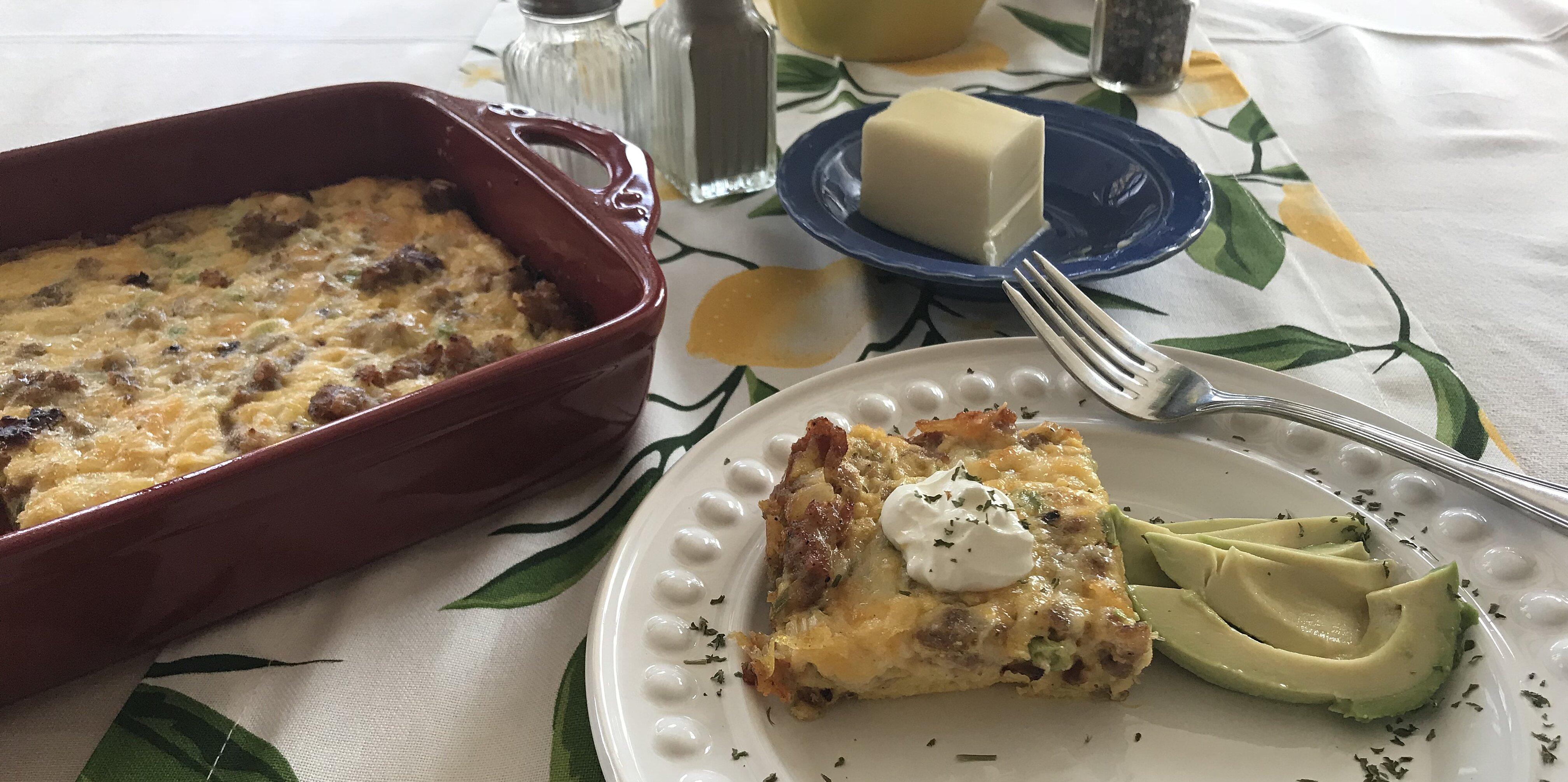rebekahs keto egg casserole recipe